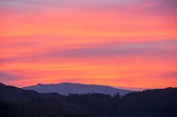 Sunset;Ambleside;Lake-District;UK;Cumbria;sky;dusk;evening;sky;cloud;glow;glowing;colour;colourful;pink;red;underlighting;red-sky;hill;mountain