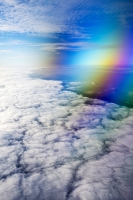 aerial;aviation;cloud;weather;pattern;meteorology;white;water-vapour;altitude;pattern;shape;circle;thermal;weather-front;rainbow;colourful