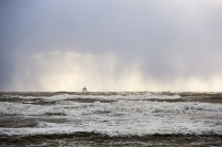 storm;stormy-weather;wind;windy;storm-Gertrude;extreme-weather;Walney;walney-Island;Cumbria;UK;beach;coast;Irish-sea;sea;waves;wave;foam;spume;climate-change;global-warming;west-coast;crashing;sky;dark;black;threatening