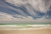 Dubai;UAE;coast;beach;sea;Persian-Gulf;sky;blue;green;sand;warm;hot;weather;wave;public-beach;cloud;high-cloud