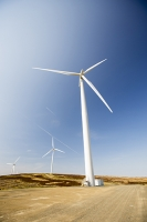 Southern-Uplands;Biggar;Scotland;UK;hill;moor;moorland;sky;blue;climate-change;carbon;Borders;wind-turbine;wind-farm;renewable;renewable-energy;Clyde-Wind-farm;blade;turbine-blade;wind-energy;wind-power;carbon-neutral;clean;green;global-warming;electricity;generating;generation;contrail;vapour-trail;aviation;jet;emissions;road;track