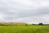 wind-farm;wind-farm;UK;renewable;renewable-energy;green;clean;carbon-neutral;energy;electricity;wind-turbine;climate-change;global-warming;field;onshore;movement;motion-blur;turning;generating;Cranford;rubbish;landfill;garbage;disposal;landfill-site;Northamptonshire