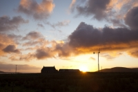 climate-change;global-warming;carbon-footprint;carbon-neutral;electricity;electric;power;renewable;renewable-energy;generation;generating;energy;power;landscape;sky;cloud;wind;wind-power;wind-turbine;wind-farm;Orkney;sunrise;dawn;Hoy;small-scale;house;carbon-neutral;carbon-footprint